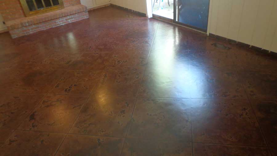 Tuscan slate stained concrete